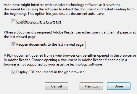 باز کردن کتاب های PDF از آخرین صفحه ای که خواندید