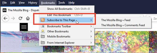 افزودن خوراک به فایرفاکس با Live Bookmarks