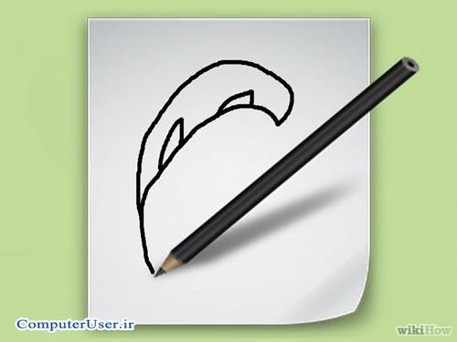 کشیدن طرح خام روی کاغذ