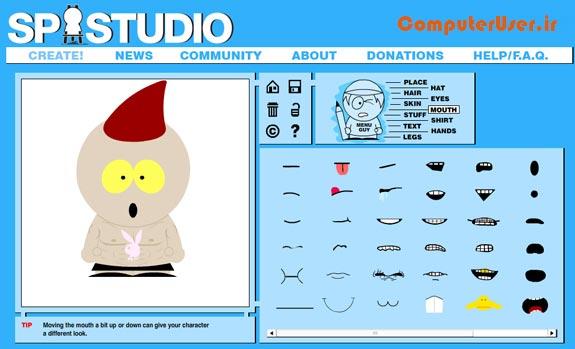 ساخت تصاویر کارتونی با SP-Studio