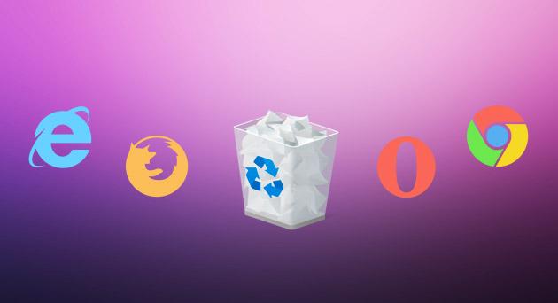 چگونه مرورگر اینترنت را پاک کنیم