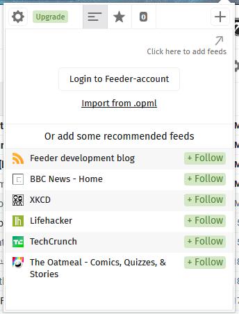 افزونه Feeder فایرفاکس