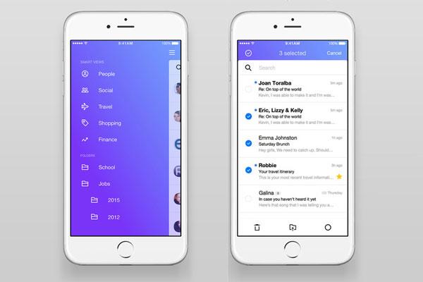چک کردن ایمیل ها اپلیکیشن Yahoo
