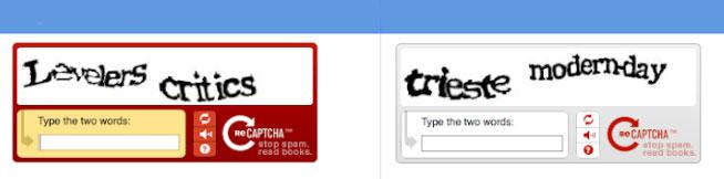 reCAPTCHA نسخه 1