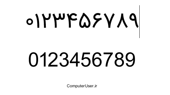فارسی کردن اعداد در ورد
