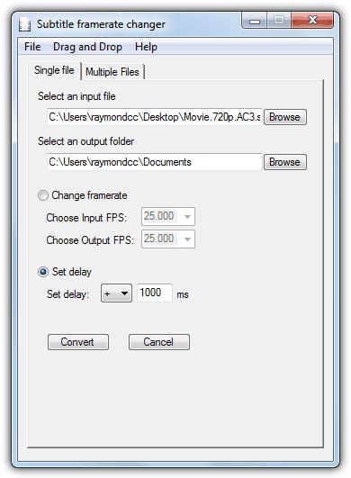 Subtitle Framerate Changer