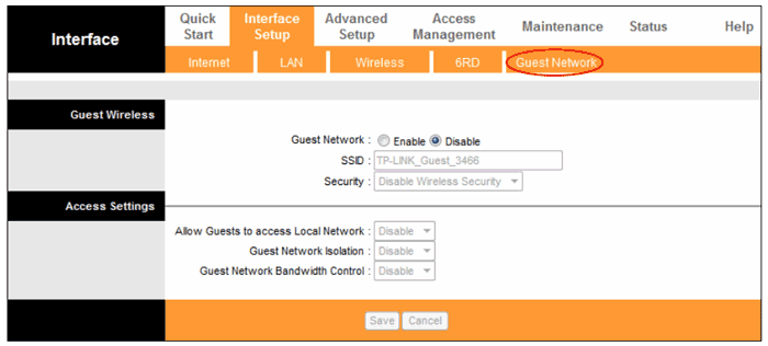 تنظیمات Guest Network در مودم TP-Link
